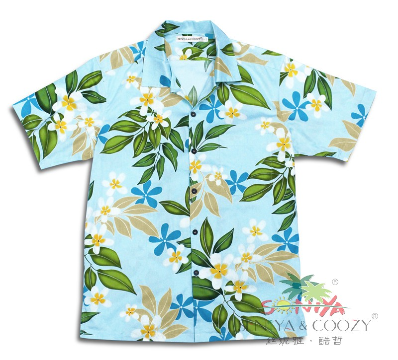 Men's clothing summer short-sleeve cotton casual male plus size flower hawaii shirts 2XL 3XL