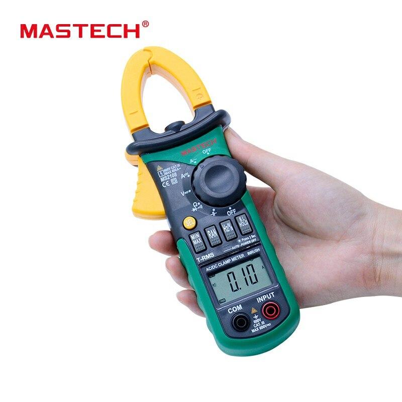 MASTECH MS2108 AC DC pinza per la misura T-RMS digital auto range multimetro Voltmetro Amperometro Condensatore tester di Resistenza