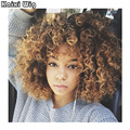 Afro Kinky Curly Wig Synthetic Blonde Black Wig Women Synthetic Curly Cheap Wigs For Black Women Medium Curly Wig Blonde