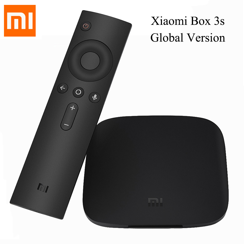 Xiaomi Mi Box 3s Global Version Android 6.0 Set-top TV Box Quad Core Smart Youtube Netflix 4K DTS Dolby HDR Media Player HDMI кофточка oodji