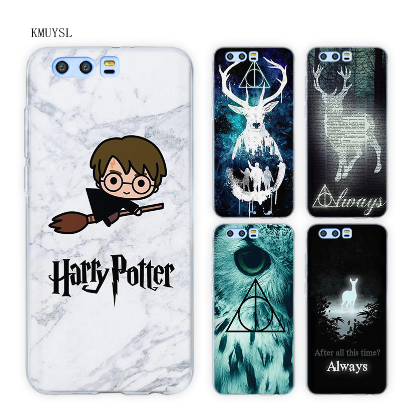Galleria fotografica Sempre di Harry Potter Doni Della Morte Del Telefono Trasparente Copertura Della Cassa Del Silicone per Huawei <font><b>Honor</b></font> <font><b>9</b></font> 10 Lite 7X 8X 8C 7C 7A 6C Pro