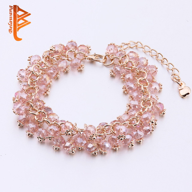Bela Handmade Crystal Bracelets For Women S Best Friends Charm Bracelet Jewelry Pulsera De Mujer Diy