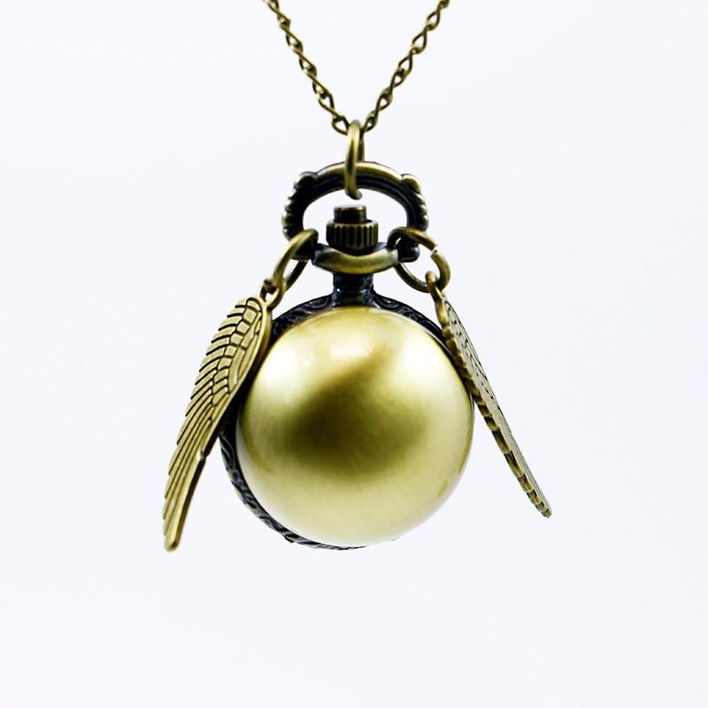 где купить Vintage Bronze Steampunk Snitch Ball Quartz Pocket Watches With Pendant Necklace Chain Children Kids Best Xmas Gift по лучшей цене