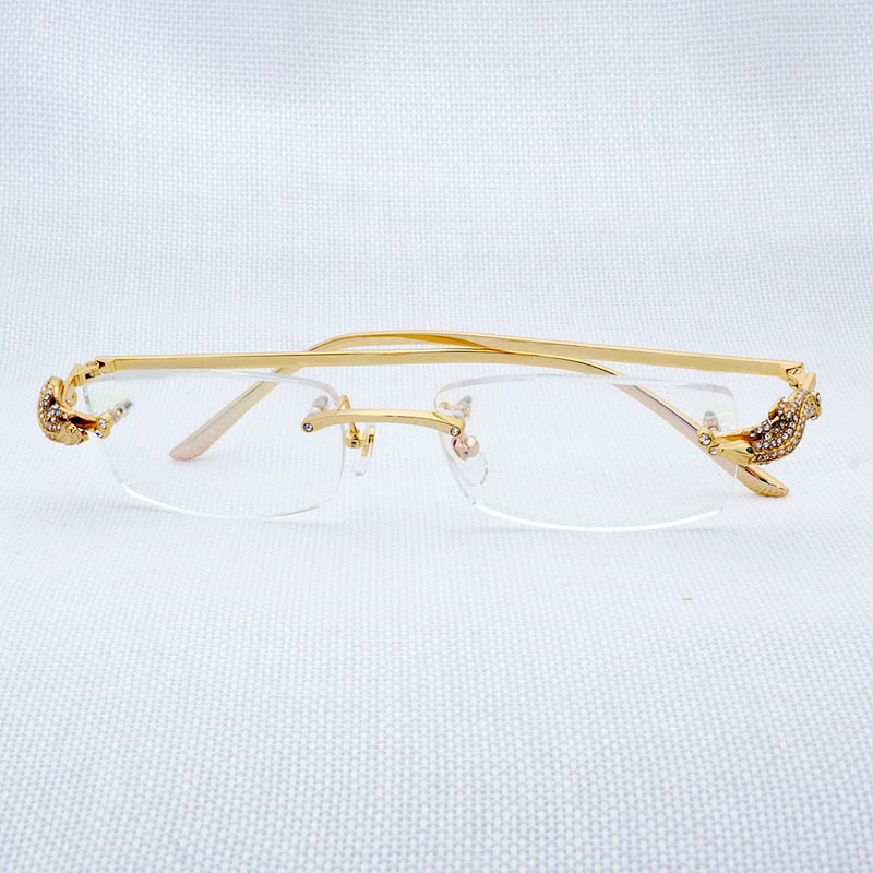 1a94c19d1cbc Vintage Square Clear Glasses Men Rhinestone Rimless Eyewear for Women  Accessories Retro Eyeglasses for Reading Gafas Lunette-in Eyewear Frames  from Apparel ...
