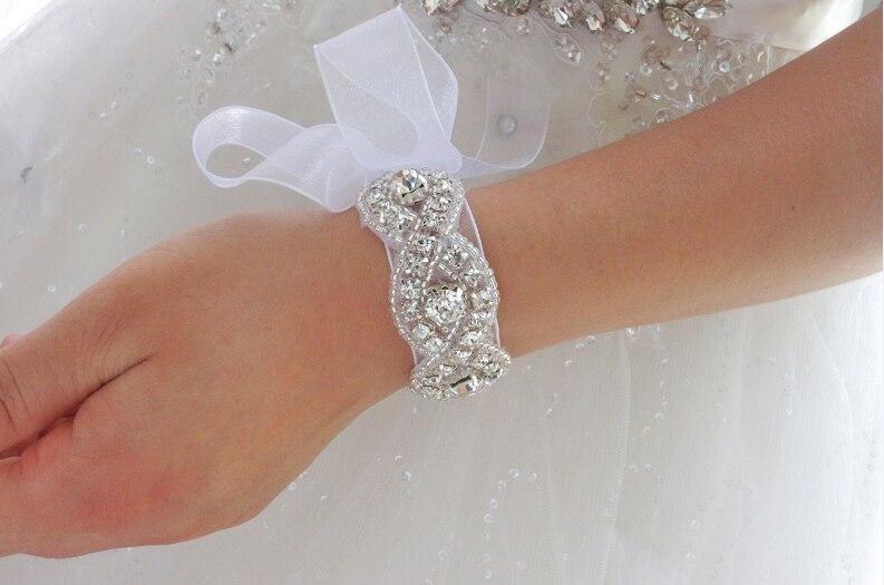 Handmade Crystal Beaded Bridal Bracelet
