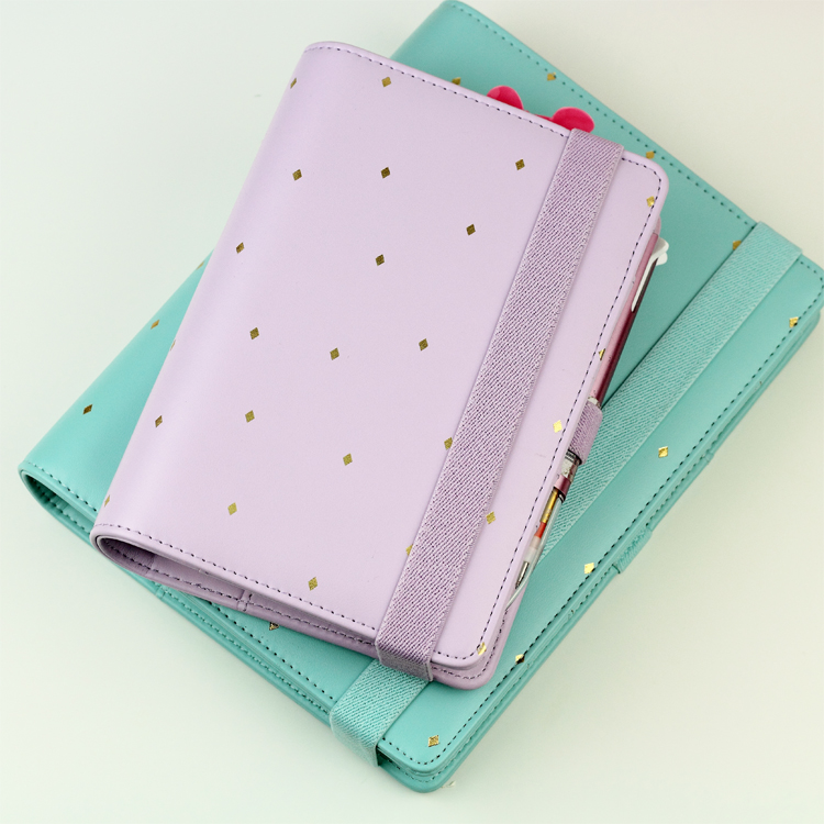 Image 5 - New Arrive Star JM Polka Dot 6 loose leaf Notebook A5 A6 Organizer Planner With Elastic Bind Match  Dokibook Filler-in Notebooks from Office & School Supplies