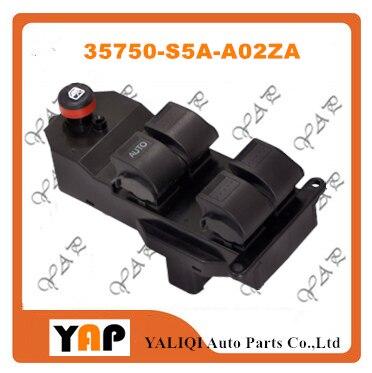 Переключатель Стеклоподъемника передний левый для фотовспышки Civic 1.3L 1.7L 2.0L 2.4L 35750-S5A-A02ZA 1AWES00100 2001-2006