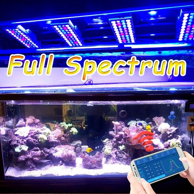 dsuny marine aquarium led lighting alimentador aquario iluminacao lamp marinho popbloom coral reef fish lps verlichting