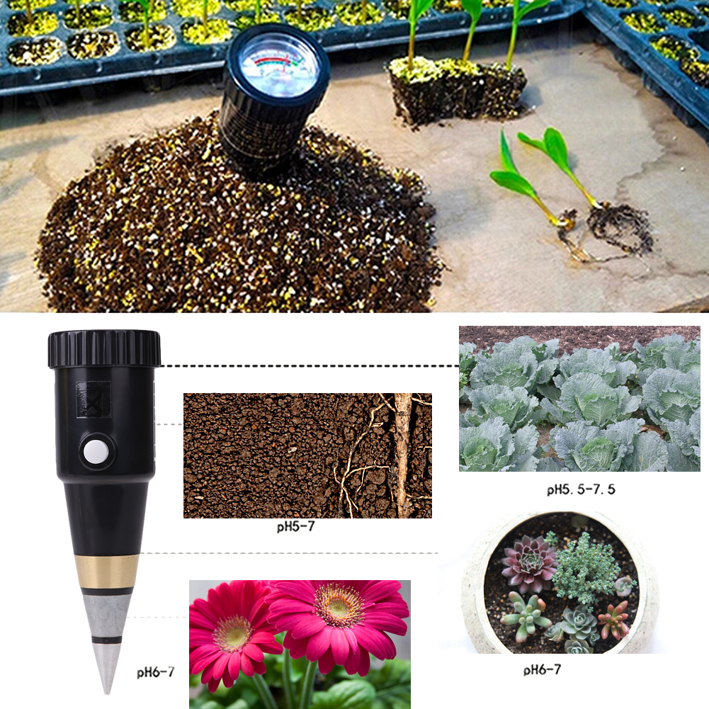 3~8pH Handheld Soil Moisture Meter With PH Level Meter Tester Anolog Display For Flowers Crops Plants Vegetable Soil PH Meter mc7812 induction tobacco moisture meter cotton paper building soil fibre materials moisture meter