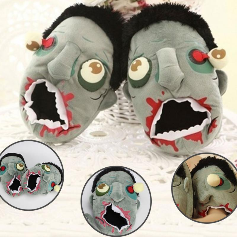 Slippers Cartoon Shoes Winter Indoor New for House Warm Plush-Flats Women