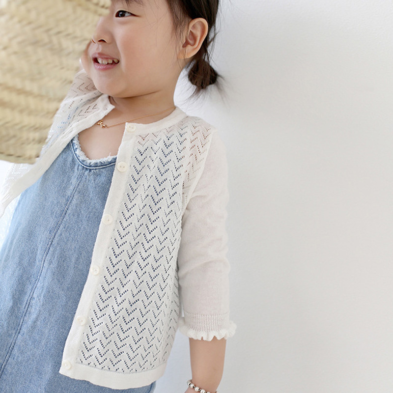2019 Spring Summer Baby Girls Clothes Children Knitted Cardigan Toddler Hollow Out Princess Girls Sweaters Jacket BC6012019 Spring Summer Baby Girls Clothes Children Knitted Cardigan Toddler Hollow Out Princess Girls Sweaters Jacket BC601