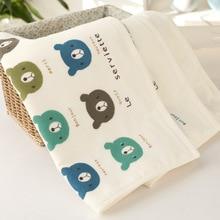 25 x50cm cotton gauze bear children towel Wash a face Towel Set for men and women Soft 100% Cotton Beach Bathroom