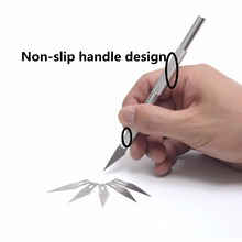 Bianyo Artist Knife Alloy Handle With 6Pcs Blades Set For Sculpture tools Craft Cutter Utility Knife Stationery Art Supplies