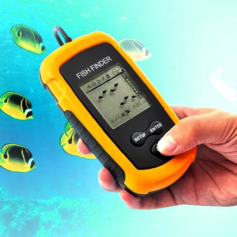 High quality alarm 100m portable sonar lcd fish finder for Fishing lure with camera