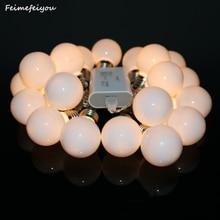 Feimefeiyou 3 power Battery USB Plug styles led globe 10 20 bulb wedding fairy string light garden garland decoration
