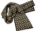 Moda de Doble Capa de Impresión Bufanda de Seda Pura de Los Hombres de Tendencias de Estilo Largo Multicolor Verdadero Satén de Crepe de Seda Pañuelo Para El Cuello