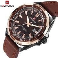 2017 NEW Fashion Casual NAVIFORCE Brand Waterproof Quartz Watch Men Military Leather Sports Watches Man Clock