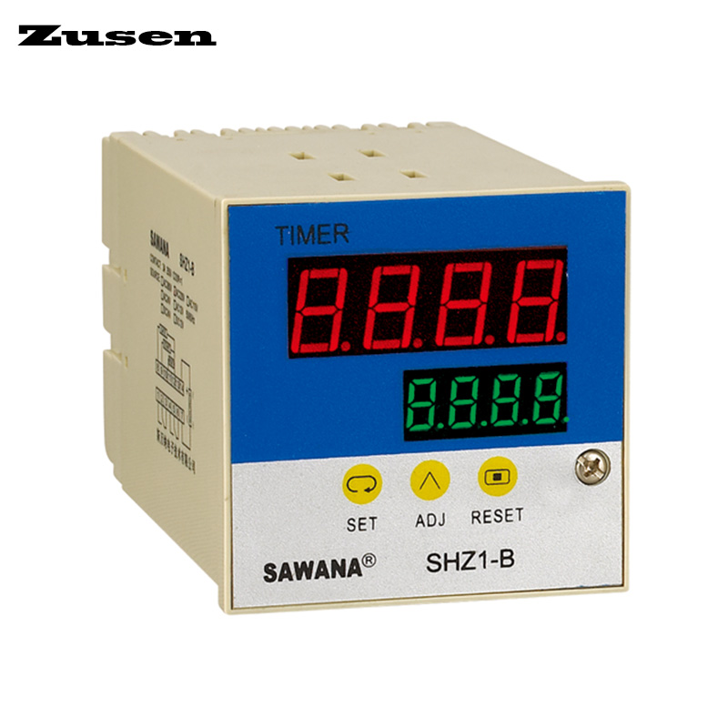 все цены на Zusen SHZ1-B(ST8B) intelligent dual digital display time relay DC12V/24V/36V/AC110V/220V/380V