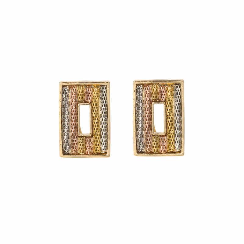 BAUS דובאי חתונת צבע זהב שלושה צבעים בכיר שרשרת סט תכשיטי חרוזים אפריקאים האתיופית כלה ניגרית חליפת אביזרי
