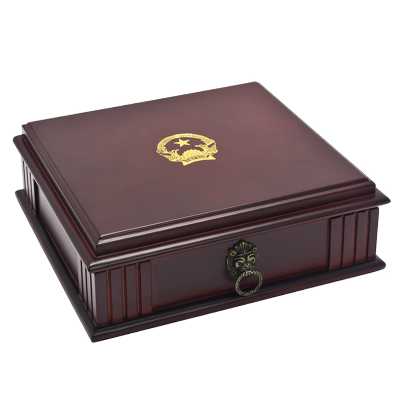 Vietnam National Emblem Cigar Storage Box Solid Wood  Cigar Accessories Humidor Lion Head Decoration Cigars Moisture Smoking Box