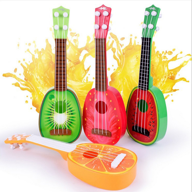 Моделювання гітари Дитячі Музичні Іграшки Навчальні іграшки Чотири струнні гітарні іграшки Музичні інструменти