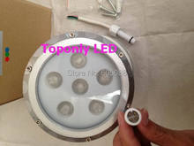 Outdoor DC24V 18W Round Edison RGB Led Wallwasher IP65 Mini LED Projector Silver/Black Shell CE&ROHS 36pcs/lot DHL Free Shipping