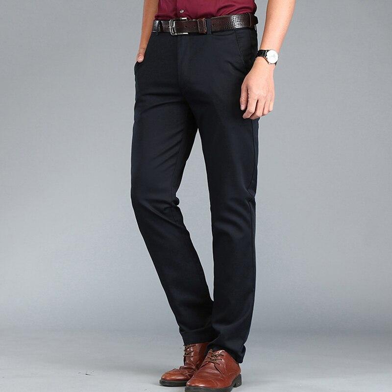 2019 Neue Frühling Herbst Hosen Männer Hosen Casual Baumwolle Atmungsaktive Hose Männer Mid-taille Gerade Fitness Hose Pantalon Homme