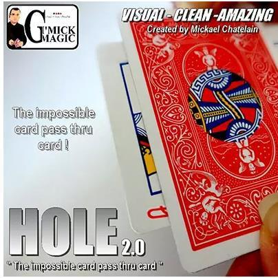 Free shipping! HOLE 2.0 (Gimmick & DVD) - Card Magic Tricks,Gimmicks,Street,Close up,stage magic,illusions,mentalism,props