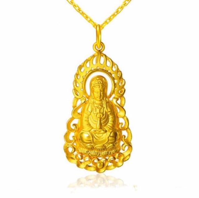 New authentic 24k yellow gold pendant kwan yin pendant heavy gold new authentic 24k yellow gold pendant kwan yin pendant heavy gold 118g aloadofball Gallery