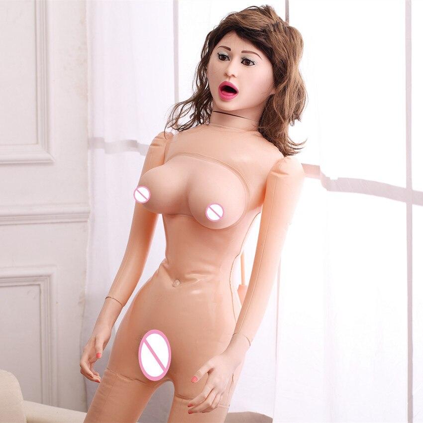 Le plus récent! 2B Gros Seins Oralsex Gonflable Poupées de Sexe Avec Vagin Réel et Anal Réaliste Poupée D'amour En Silicone Produits Pour Adultes Sex-Shop