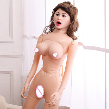 Newest! 2B Big Breast Oralsex Inflatable Sex Dolls With Real Vagina and Anal Lifelike Silicone Love Doll Adult Products Sex Shop