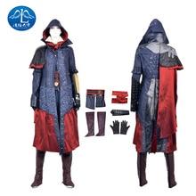 ManLuYunXiao Evie Frye Roleplay Assassin's Creed Cosplay Costume Women Jacket Dress Cosplay Leggings Custom Made