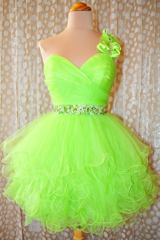 Online Get Cheap Short Lime Green Dresses -Aliexpress.com ...