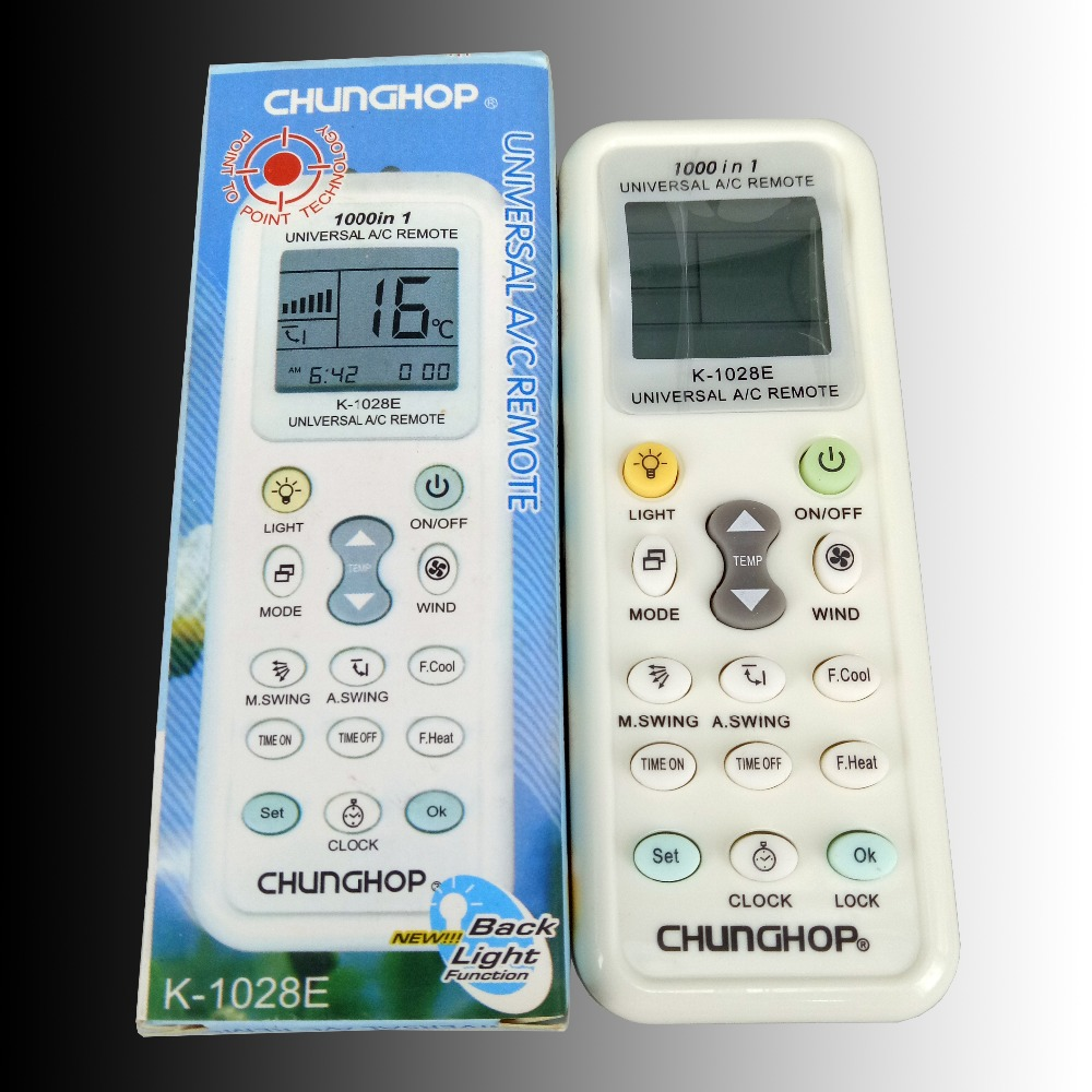 New Replacement For <font><b>CHUNGHOP</b></font> AC A/C Remoto Controller K-<font><b>1028E</b></font> 1000 In 1 Universal Air Conditioner Remote Control Fernbedienung image