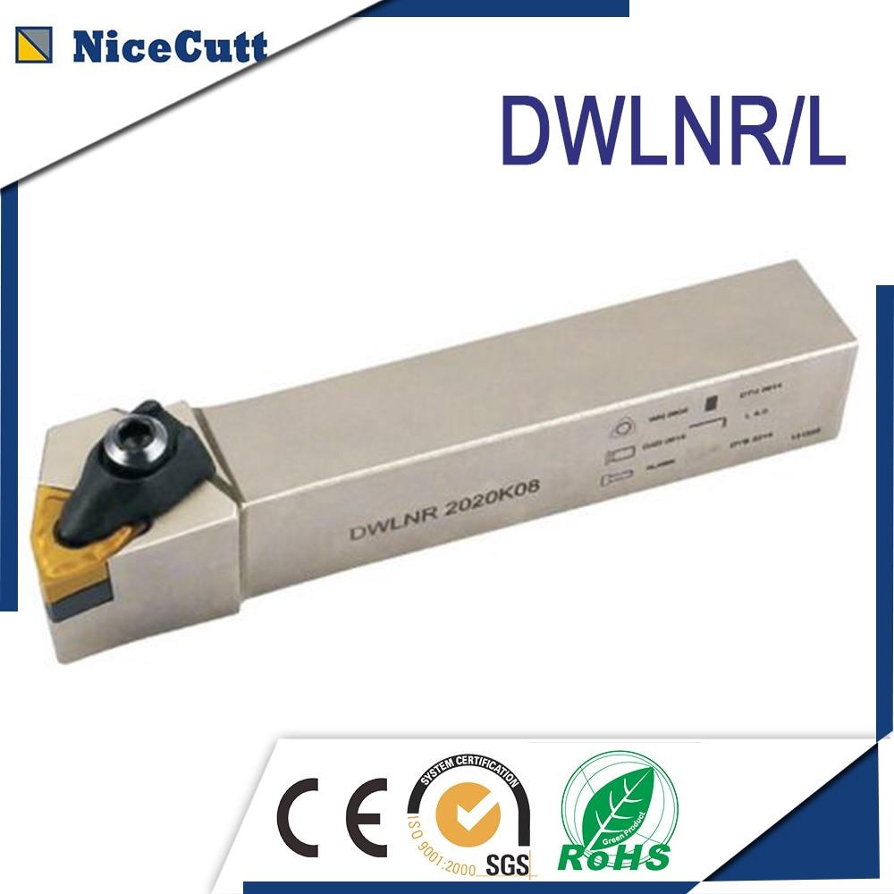 Free Shipping External Turning Tool Holder DWLNR Lathe Cutter DWLNR2020K08 DWLNR2525M08 For Turning Insert WNMG