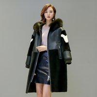 Casaco Manteau Femme Hiver Parka Fox Collar 100 Real Wool Fur Coat Sobretudo Feminino Women S