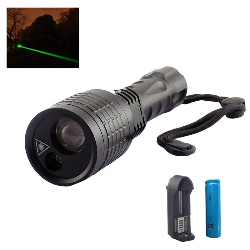 Led Flashlight with Green Laser pointer lazer light Search 2 in 1 Led light flash light lamps for hunting fishing 18650 Battery lomom 10w 2 colors professional cree led fishing built in li ion battery for fishing hunting equipment tripod uv flashlight
