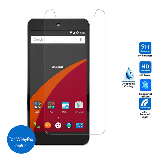 """2pcs Ultra-thin Tempered Glass Film For Wileyfox Swift 2 Plus / / 5"""" Lcd Explosion-proof Screen Protector Cover Matching In Colour"""
