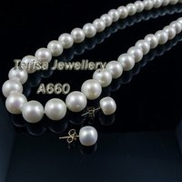 New Style A660# AA Fresh Water Pearls Necklace White Color Pearls Size10 11mm Nice Quality Fresh Water Pearls Necklace