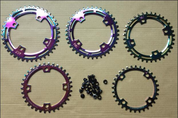 1pcs Black Fouriers Bicycle Single Chain Ring P.C.D 104mm 30T-40T 4mm Bike Chainrings Narrow-wide Teeth fouriers 7075 oval single chain ring 38t 40t 42t 44t 46t 48t chainrings bcd 104mm narrow wide tooth mtb bike chainwheel crank