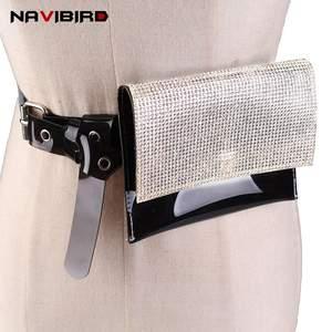 958b404c7e6 NAVIBIRD Rhinestone Belts For Women Designer Waist Dress