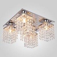 ICOCO 120V Pendant Lights 5 Heads LED Lamp Contemporary Elegant Crystal Home Decorative Light avize Modern Fixture lighting