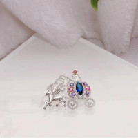 Designer Fashion 925 Sterling Silver Jewelry 3A Cubic Zirconia Party Brooch