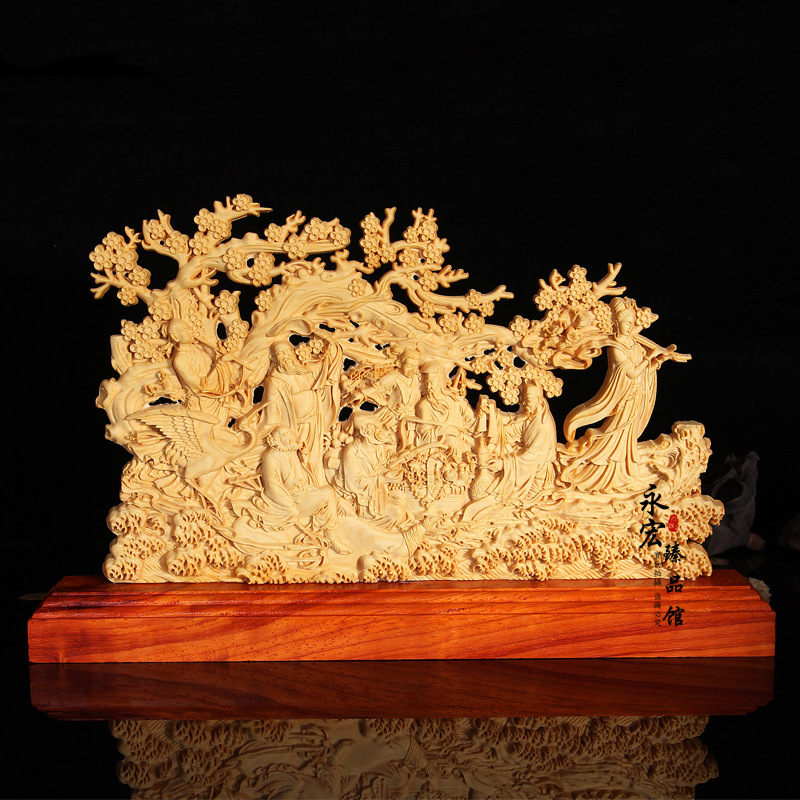 Wood carving of Chinese mythology characters, desktop Decoration home decorations ornaments(A027)Wood carving of Chinese mythology characters, desktop Decoration home decorations ornaments(A027)