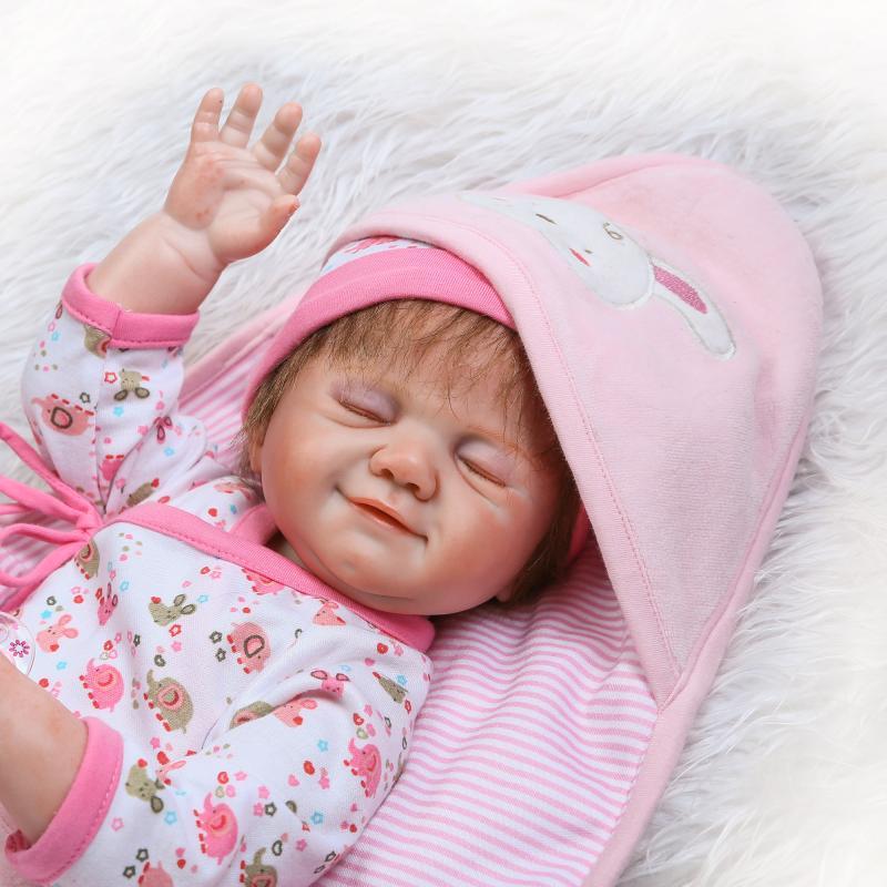 все цены на  Reborn babies Dolls Soft Silicone body 50cm Magnetic pacifier rooted hair eyelash Lovely  girl Toy bonecas bebe gift reborn  в интернете
