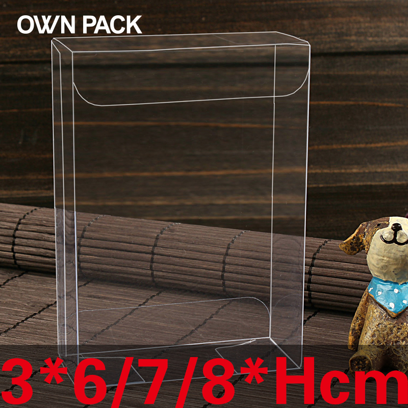 10 Pcs/lot 3*6/7/8*H Clear  Packaging Boxes / Plastic Container / Retail / Chocolate Box / Candy Box / Gift Package / PVC Boxes