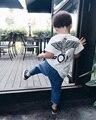 2017 Bobo Choses Verão Tops T Do Bebê Meninos Menina Tshirt crianças Patter Águia Menino Roupas de Manga Curta Roupas Tamanho 80-130 Cicishop