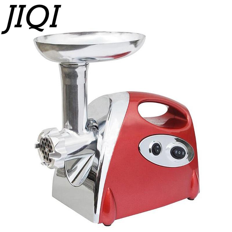 JIQI Multifunction Electric Meat Grinder Mincer filler Sausage Filling Maker Machine stuffer vegetables Slicer Cutter 110V 220V