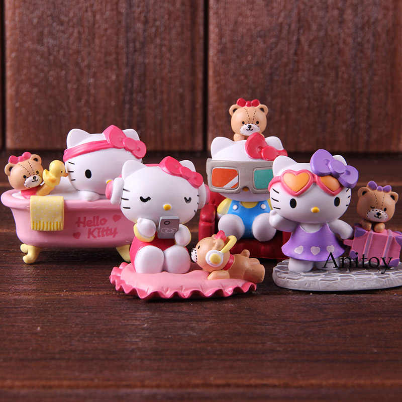 acc4f1e66 Hello Kitty Dress You Up in Style PVC Action Figure Sanrio Hello Kitty Toys  Doll for