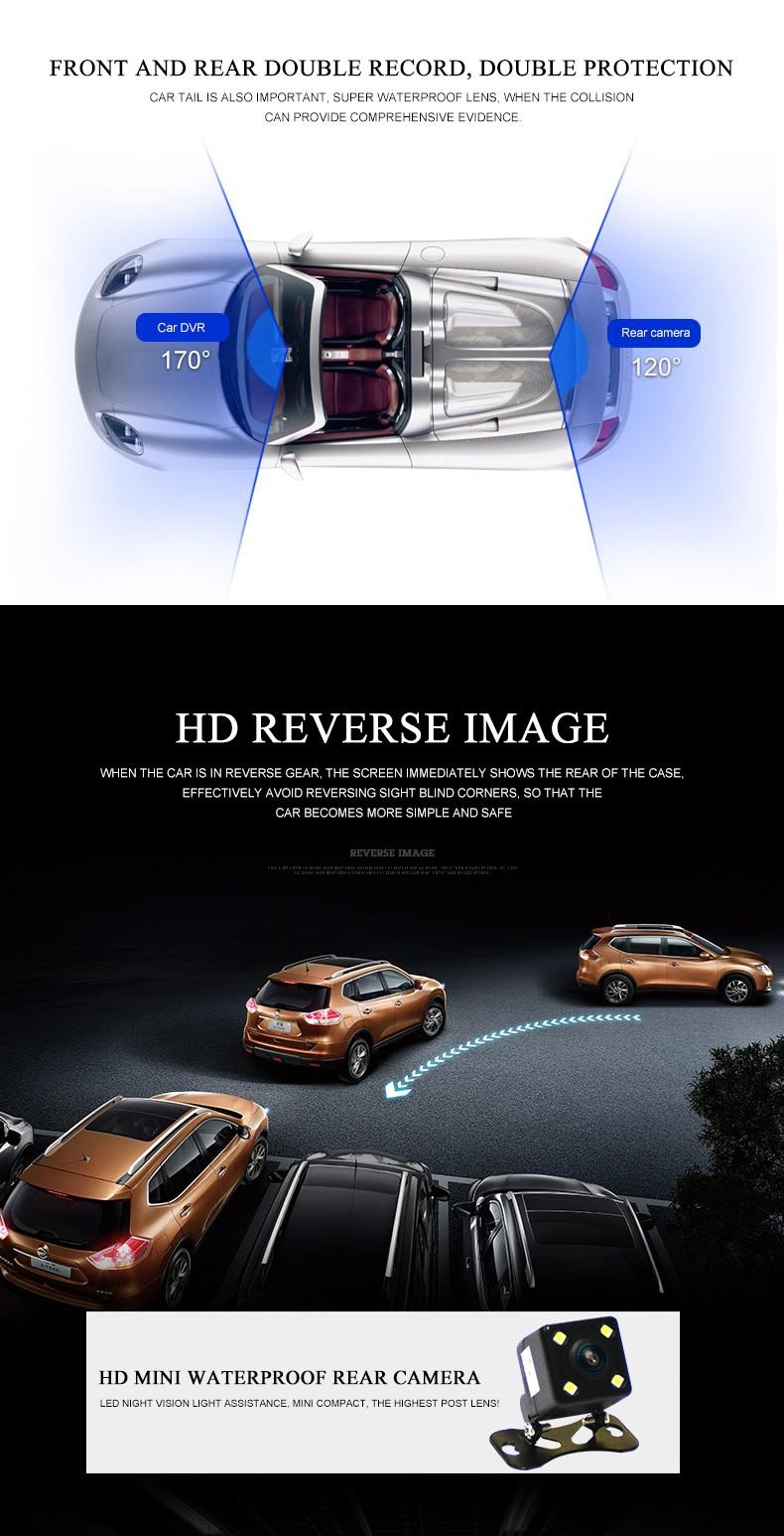 Jansite Car DVR Camera Review Mirror FHD 1080P Video Recorder Night Vision Dash Cam Parking Monitor Auto Registrar Dual Lens DVR 10